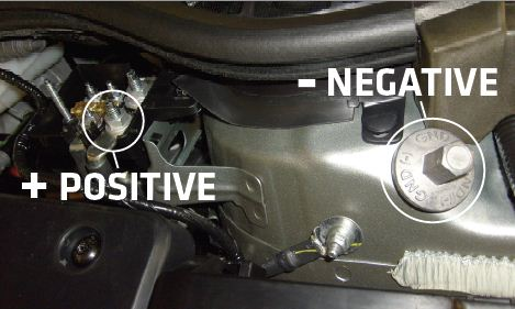 How to Jump Start the 2012 Volt Under The Hood