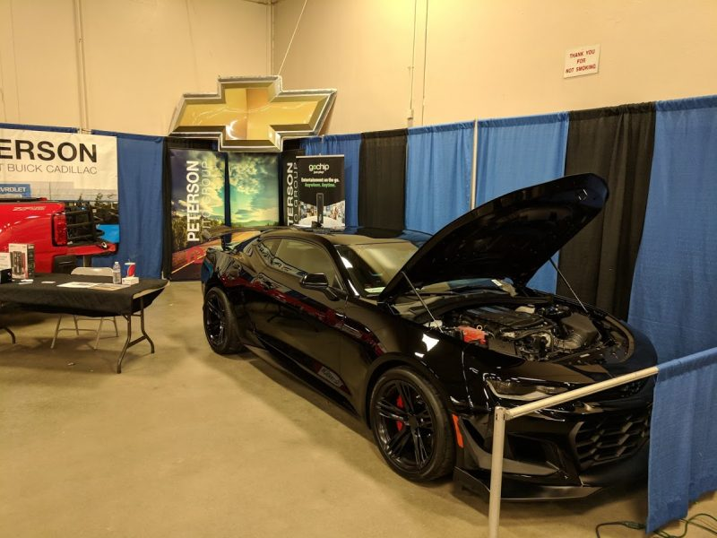 Peterson Roadster Show Booth with a Camaro ZL1